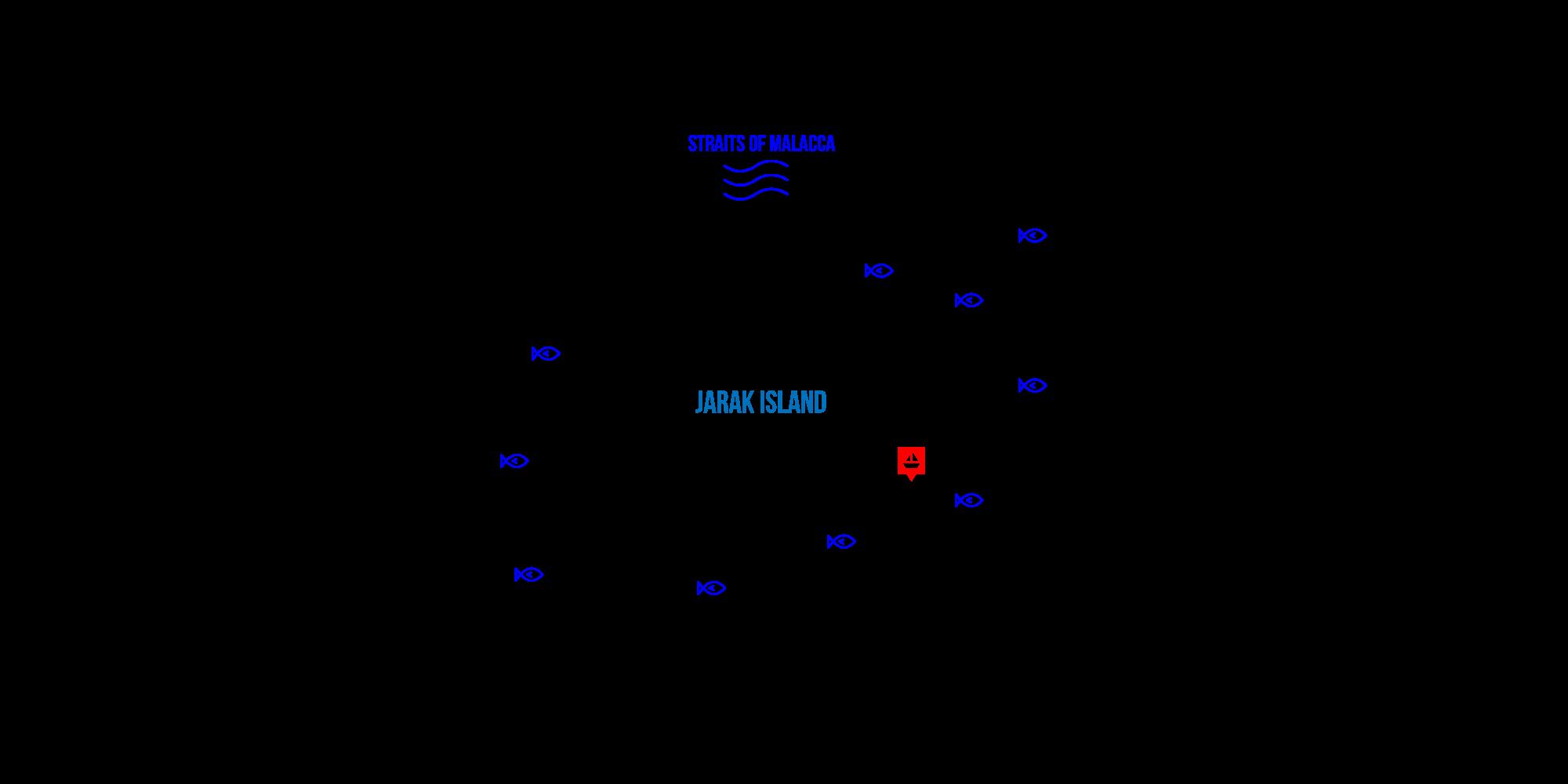 jarak island map