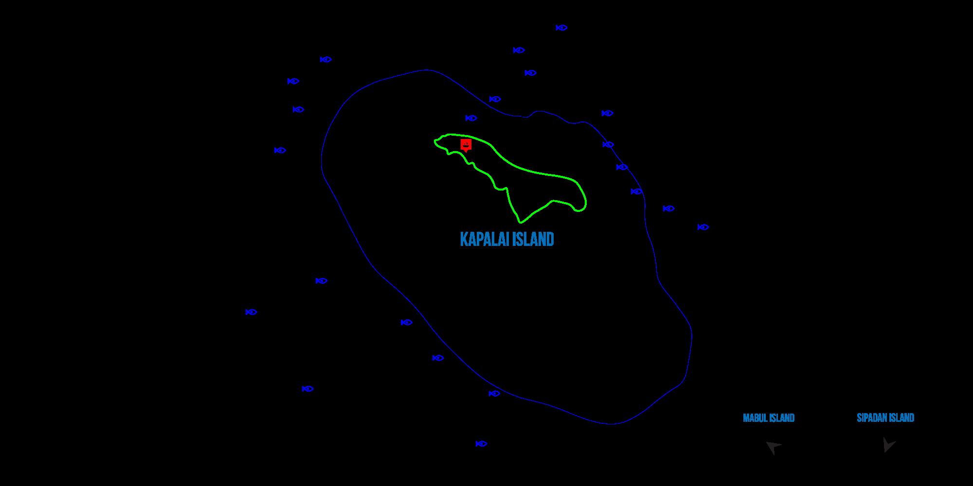 Kapalai map