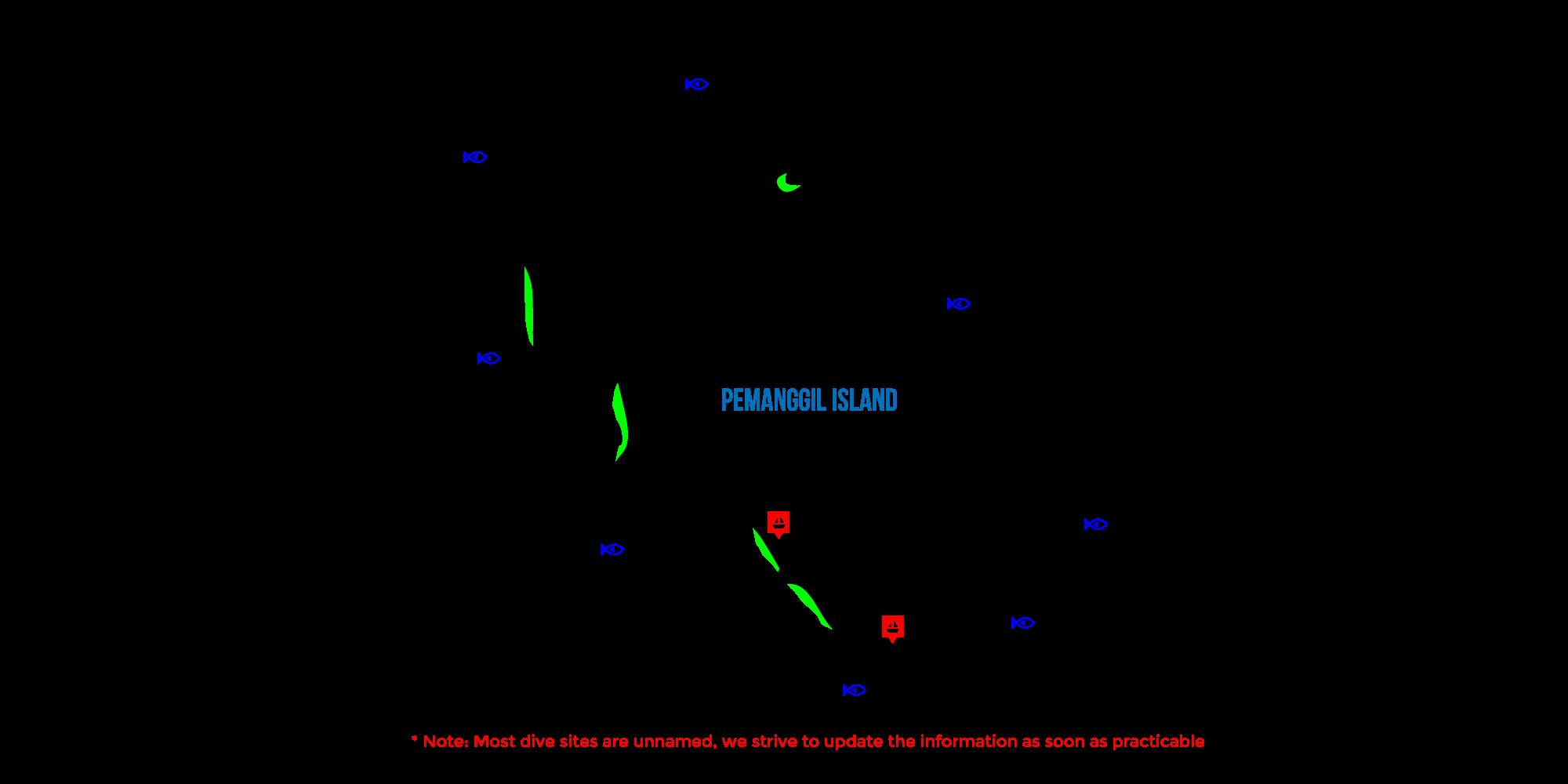 pemanggil island map