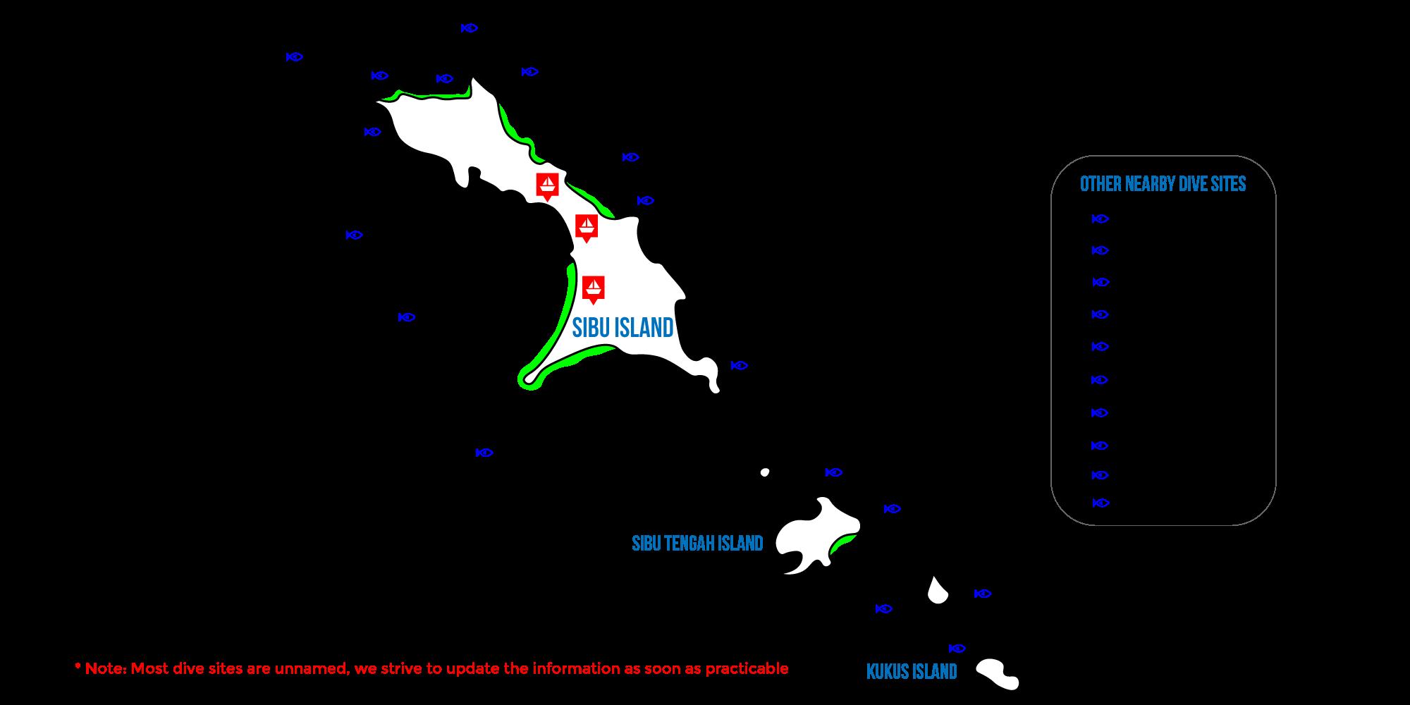 sibu island map
