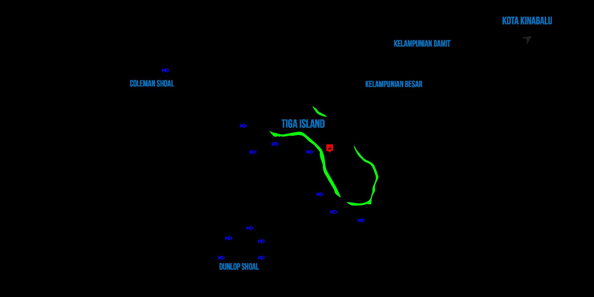 tiga island map