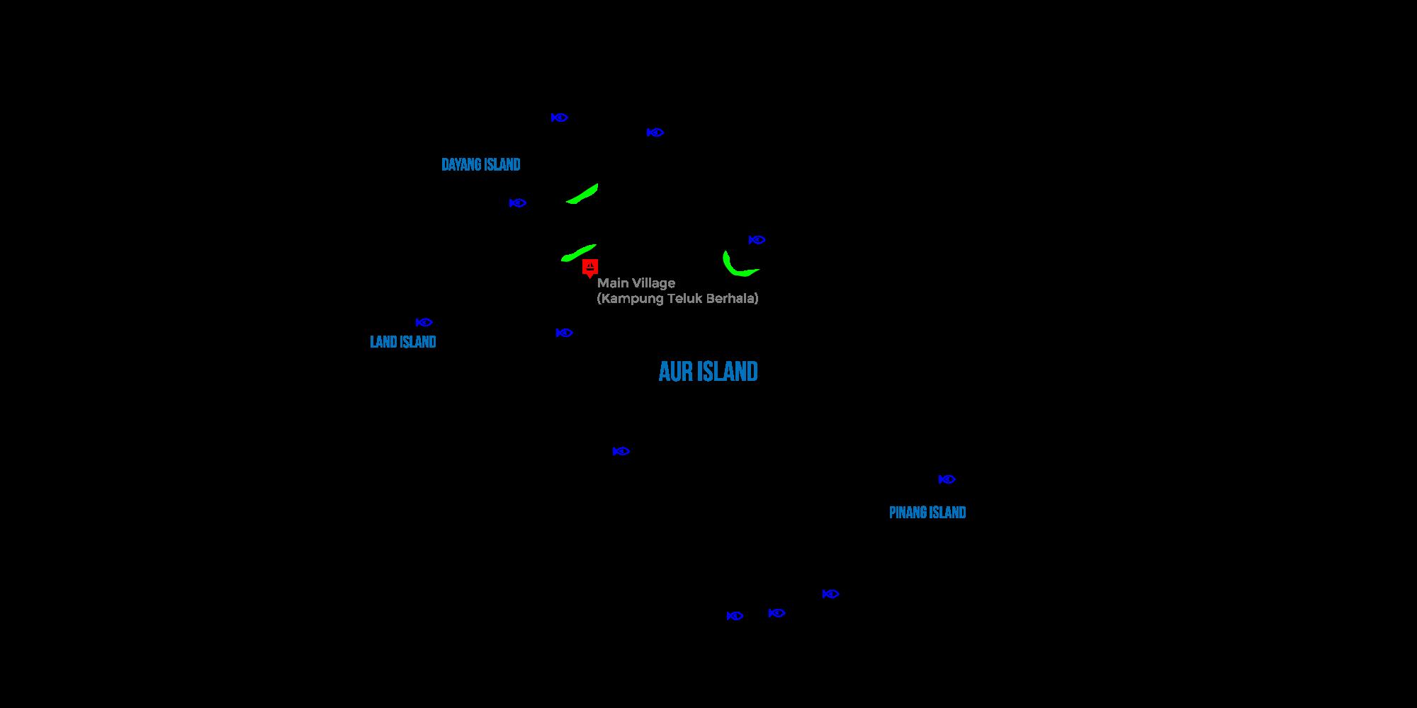 Aur Island Map