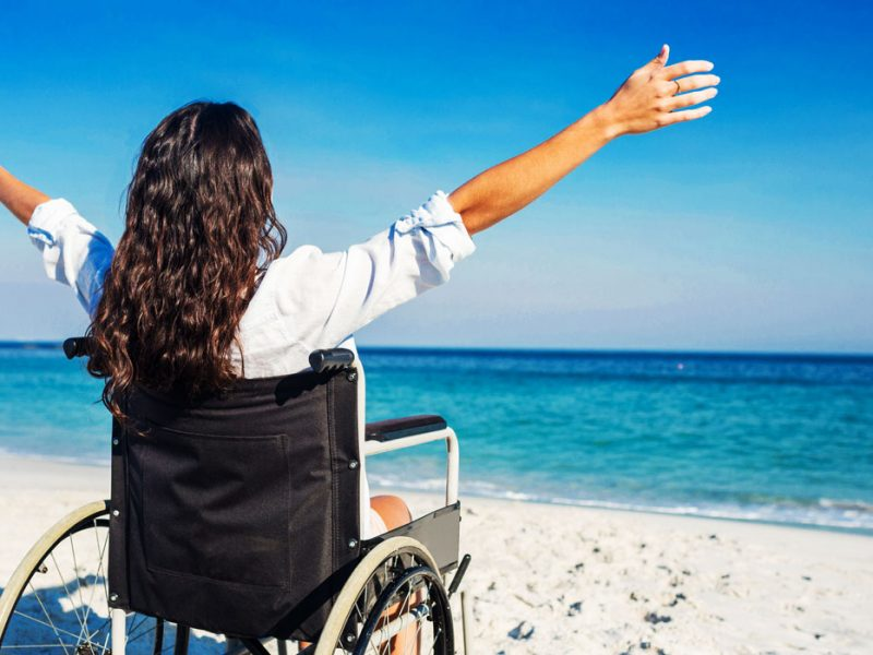 Wheelchair beach