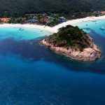 redang beach resort aerial photo