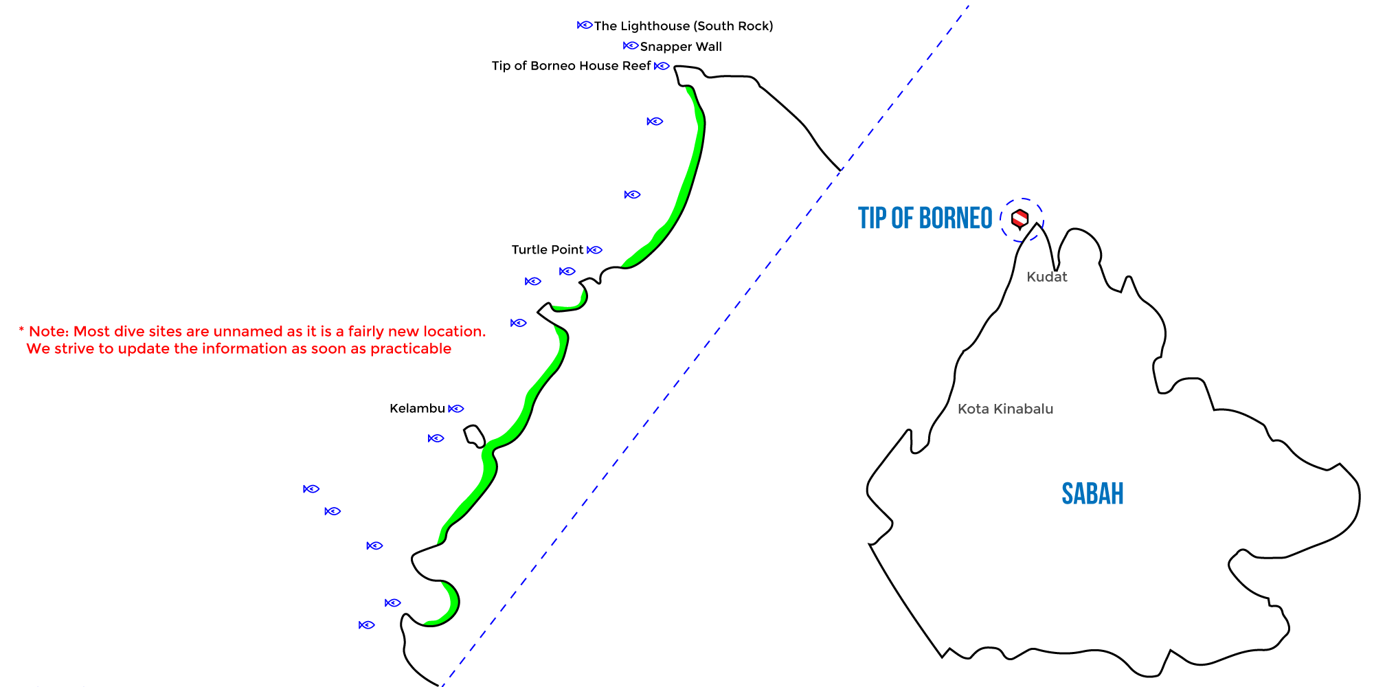tip of borneo kudat scuba dive map