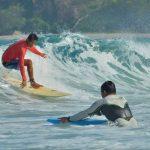 borneo surfers surfing