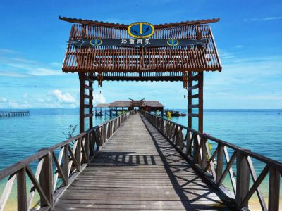 borneo divers jetty welcome